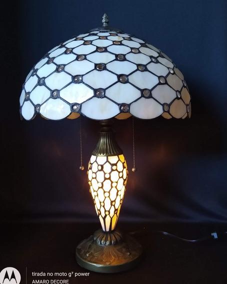 Luminaria Abajur Tiffany Importado - Promoçao Queima Total