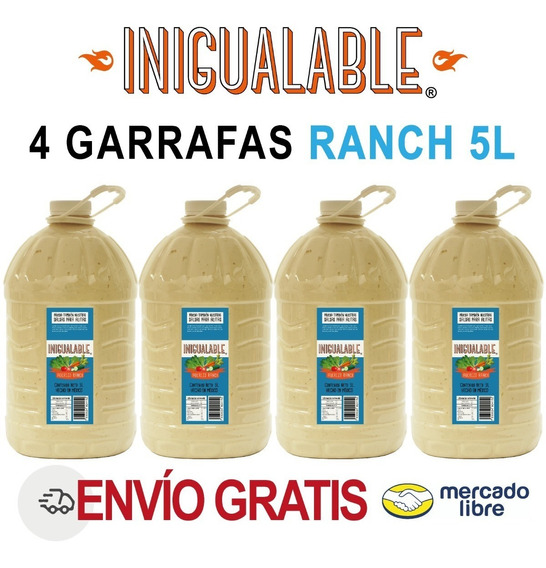 Inigualable Aderezo Ranch Alitas Caja 4 Garrafa 5 L Ensalada