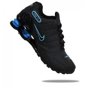 Tenis Nike Nz Masculino Foto Original Preto Azul