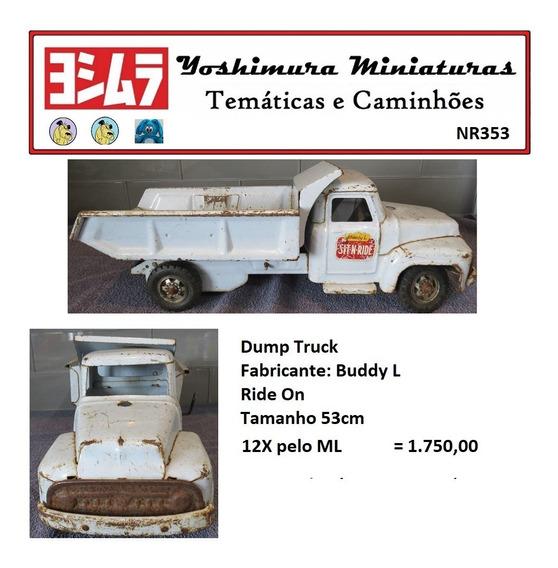 Caminhão Basculante Lata Buddy L Ride On Vintage