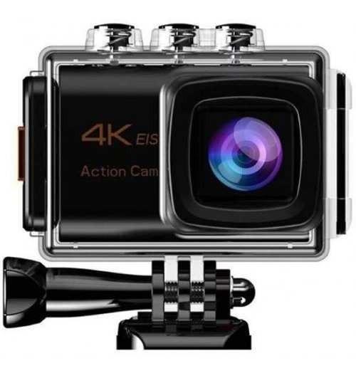 Camera Sport Action 4k 25 Fps Wifi - Kit 22 Acessórios Ação