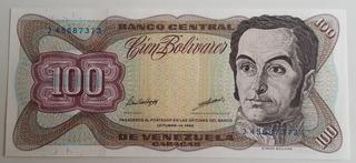 Billete Venezuela 100 Bolívares Octubre 13 1998 J8 Unc