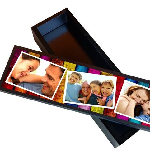 Caja Con Tus Fotos Regalo Dia De La Madre, Del Padre, Abuelo