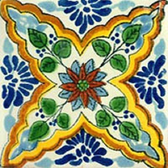 90 Azulejos De Talavera 10x10 - Estrella De Mar