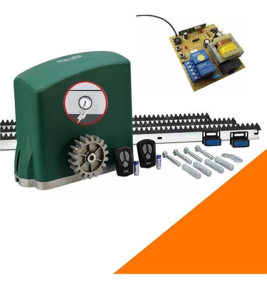 Kit Motor Portón Corredizo Automático Seg 500kg Residencial