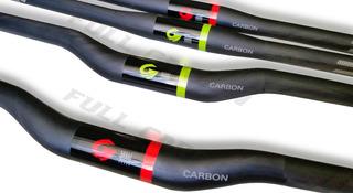 Guidão Fibra Carbono Mountain Bike 700/720mm Reto Curvo Xco