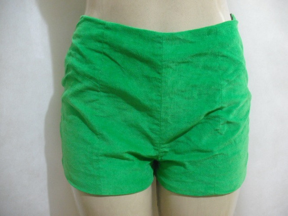 Shorts Verde Veludo Fyi Veste P M Usado Conforme Anúncio
