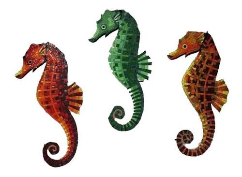 Imagen 1 de 10 de Figura Mosaico Caballito De Mar 25 Cms. Para Alberca
