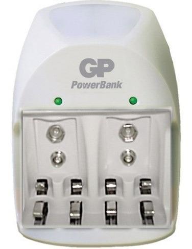 Cargador Gp 4 Puertos Para Pilas Baterías Aa / Aaa Y 9v