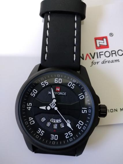 Relógios Naviforce Luxo Pulseira De Couro Para Homens