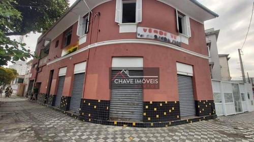 Loja À Venda, 200 M² Por R$ 797.000,00 - Embaré - Santos/sp - Lo0017