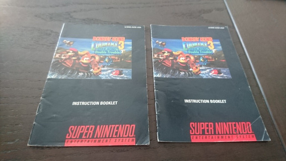 Manual Donkey Kong 3 Original Pra Super Nintendo