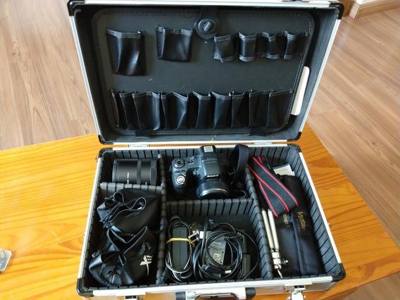 Camera Sony Hx100v 16.2 Mp +lentes+ 3 Cartões+2 Bat.+maleta