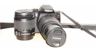 Cámara Canon Eos T6 Con Cargador Y Lentes 18-55 Y 55-250