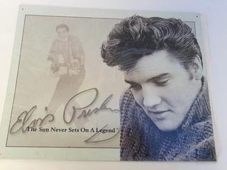 Placa Decorativa De Pared Elvis Prestley Nueva