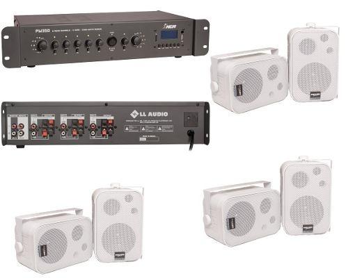 Som Ambiente 6 Setores Amplificador Pw350 + 6 Caixas Sp400