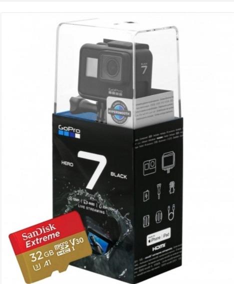 Câmera Digital Gopro Hero 7 Black 12mp 4k+ Sd 32gb Extreme