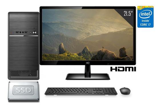 Computador Cpu Completo Intel Core I7 16gb Ssd 480gb Monitor