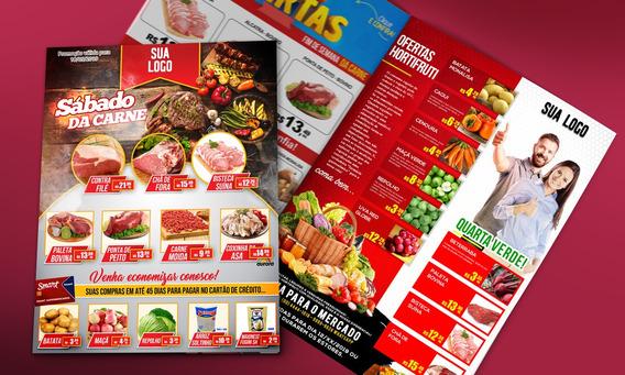 Pack Encartes Para Supermercados - Psd Rede Social/grafica