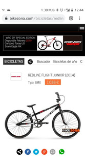 Bicicleta Bmx Redline Flight Junior 2014 1,5 [kgr]