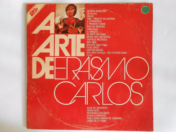 Lp. A Arte De Erasmo Carlos - 2 Discos - 24 Músicas-1982