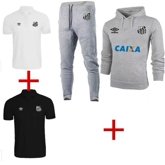 Kit Blusa Frio+2 Camisa Polo+calça+ Fc Futebol Ref 1432