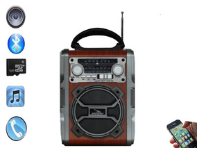 Radio Am Fm Sw Com Bateria Bluetooth Usb D- F1