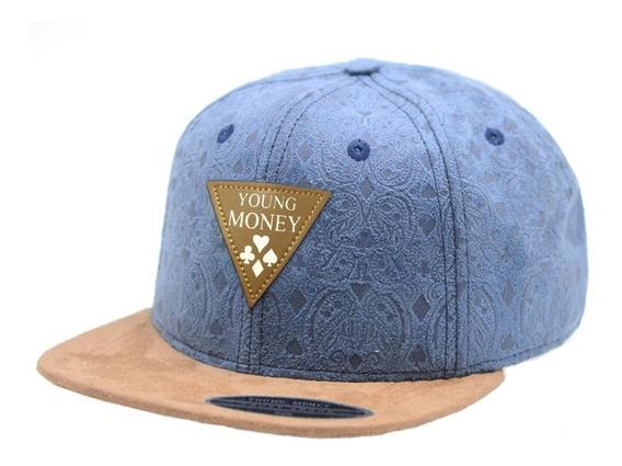 Boné Young Money Triangulo Azul Reta Aberto Original 25 Cor