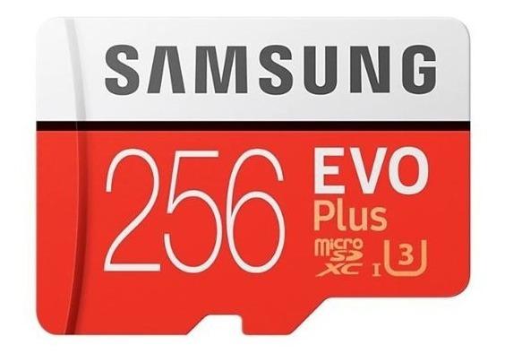 Cartão Micro Sd Sdxc Samsung Evo Plus 100mb/s U3 4k 256 Gb