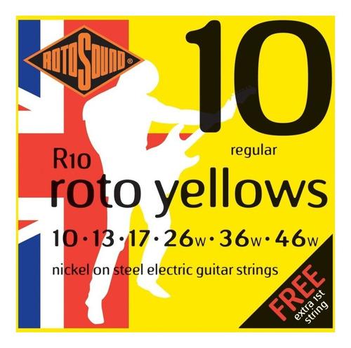 Encordado Guitarra Rotosound .010 Roto Yellows Regular R10
