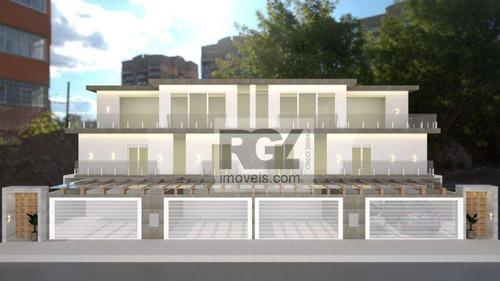 Casa Com 2 Dormitórios À Venda, 60 M² Por R$ 650.000,00 - Ponta Da Praia - Santos/sp - Ca0815