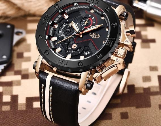 Relógio Masculino 9899 Com Caixa Original - No Brasil