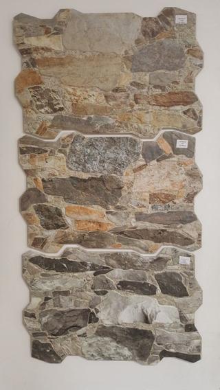 Ceramica Española Simil Piedra Muralla Gris/mix/ocre X M2 Mj