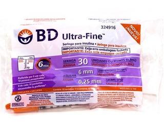 Jeringa Descartable 0,3cm C/aguja Ultra Fina 31gx6 X 100 Un.