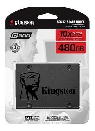 Hd Ssd Kingston 480gb / Q500 Ssdnow A400 Sata 3 6gb/s + Nf