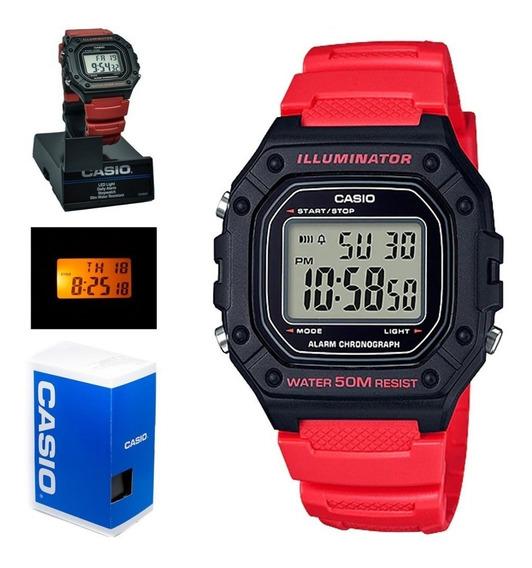 Reloj Casio Hombre W-218h Uso Rudo Luz Wr50m Envio Full Free