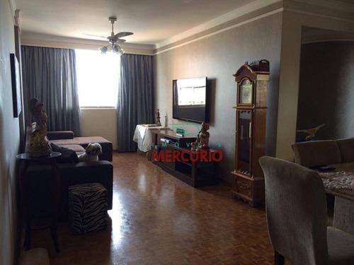 Apartamento Com 3 Dormitórios À Venda, 122 M² Por R$ 450.000,00 - Centro - Bauru/sp - Ap3042