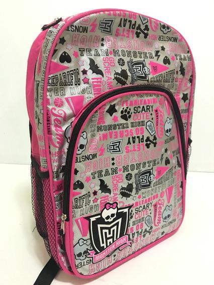 Mochila Back Pack Monster High Multi Impresiones Leyendas