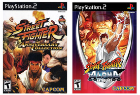 Street Fighter Alpha Anthology +street Fighte Aniversary Ps2