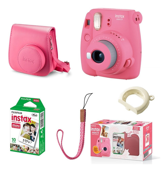 Kit Câmera Fujifilm Instax Mini 9 Bolsa E 10 Poses Kit_mini9