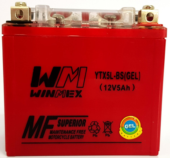 Batería Gel Para Moto Ytx5-bs