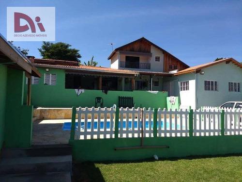 Imagem 1 de 23 de Chácara Com 4 Dormitórios À Venda, 1500 M² Por R$ 485.000,00 - Barreiro - Taubaté/sp - Ch0004