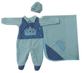 Saida Maternidade Menino Coroa Azul