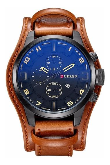 Relógio Curren Masculino Black Brown