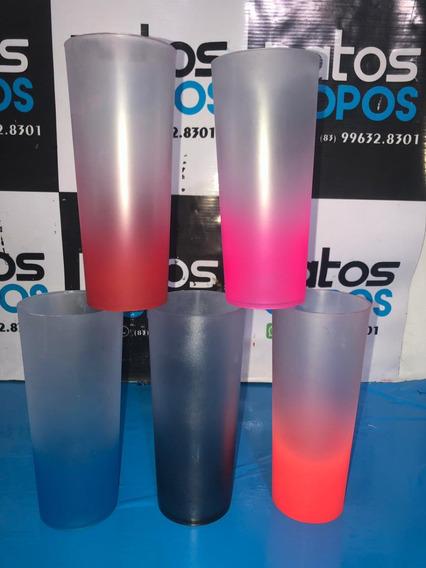 100 Copos Long Drinks Fosco Jateado Degradê Personalizados