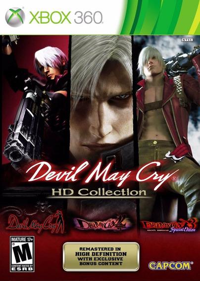 Jogo Mídia Física Devil May Cry Hd Collection Para Xbox 360