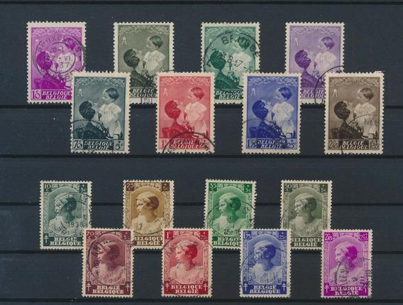 Belgica 1937 Astrid Y Niños Anti-tuberculosis Usado 27 Eur