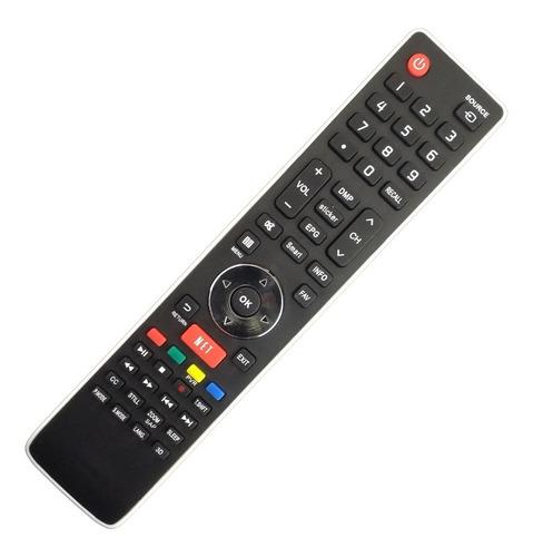 Imagen 1 de 6 de Control Remoto Er-33911 Smart Tv Netflix Led Ilo Hisense Bgh