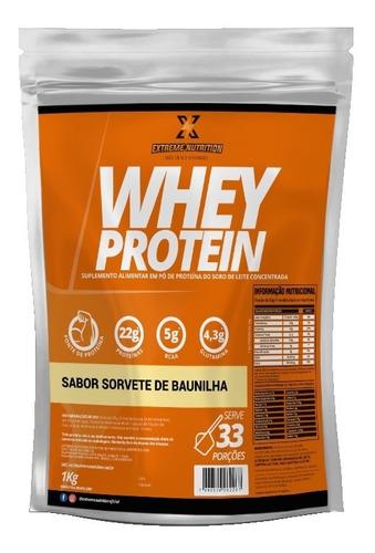 Imagem 1 de 3 de Whey Protein Concentrado Extreme Nutrition Sorvete Baunilha