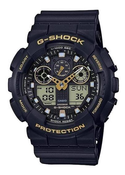 Relógio G-shock Ga-100gbx-1a9dr Masculino Preto